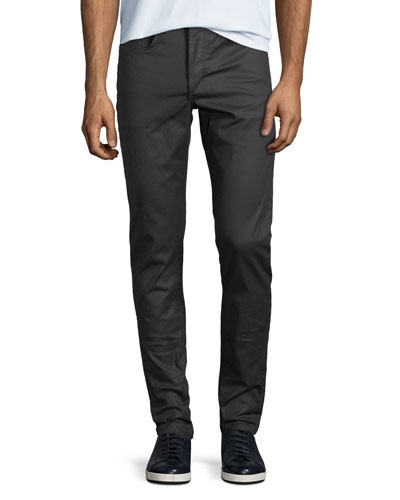 Men's Standard Issue Fit 1 Slim-Skinny Jeans, Coated Black