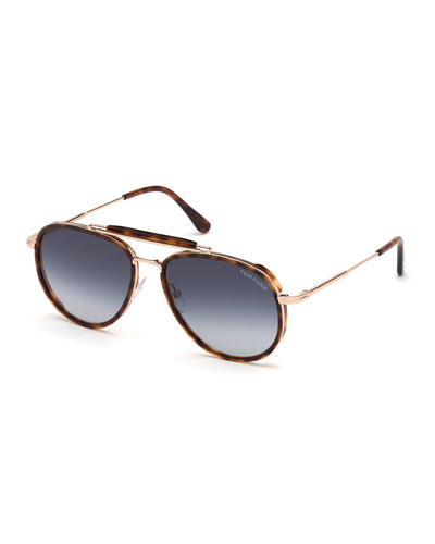 Men's Tripp Tortoiseshell Aviator Sunglasses