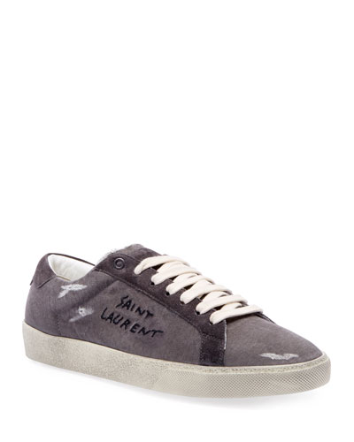 Men's Canvas Low-Top Sneakers