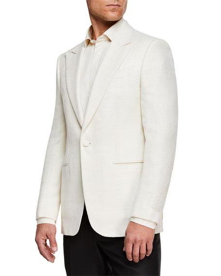 Ermenegildo Zegna Jackets MEN'S PEAK-LAPEL WOOL DINNER JACKET