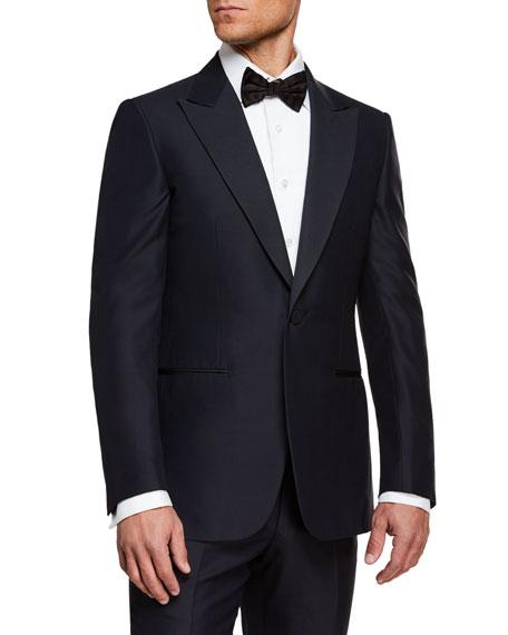 Ermenegildo Zegna Men's Peak-Lapel Wool Two-Piece Tuxedo Suit