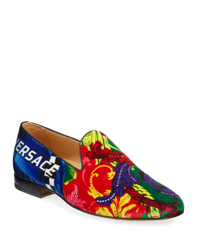 Men's Wildcolor Sequin-Detail Velvet Slipper