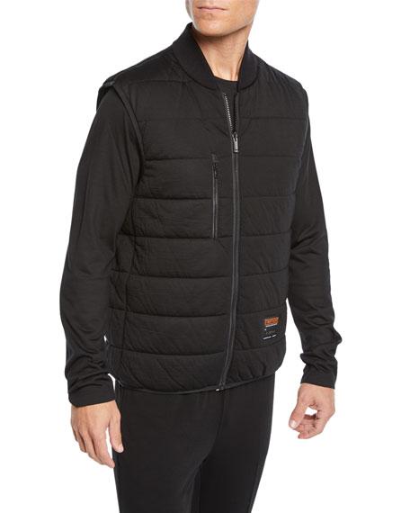 Men's Soft-Shell Tech Jacket with Detachable Vest