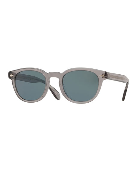 Oliver Peoples Sunglasses MEN'S SHELDRAKE ROUND PHOTOCHROMIC SUNGLASSES - WORKMAN GRAY
