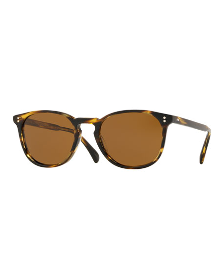 282346ac75f Oliver Peoples Men s Finley Esq. Universal-Fit Round Sunglasses