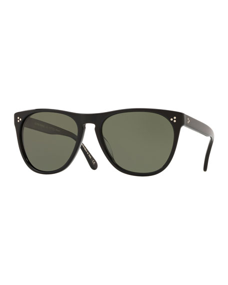 0b4904ce939 Oliver Peoples Men s Daddy B Square Acetate Polarized Sunglasses - Black