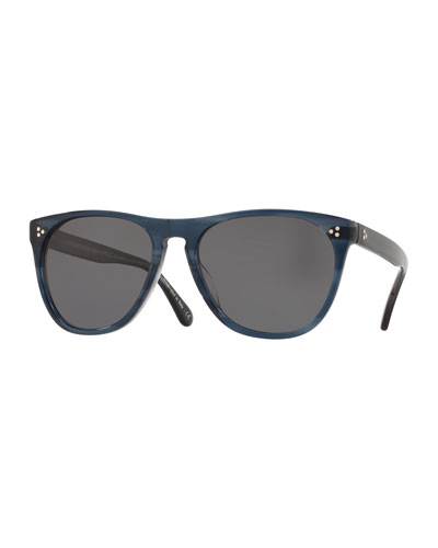 Men's Daddy B Square Acetate Polarized Sunglasses - Indigo Havana