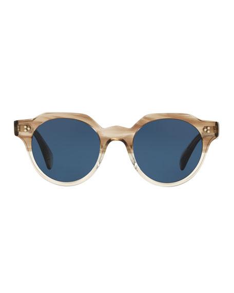 c88e987c5da Oliver Peoples Men s Irven Faceted Round Acetate Sunglasses ...
