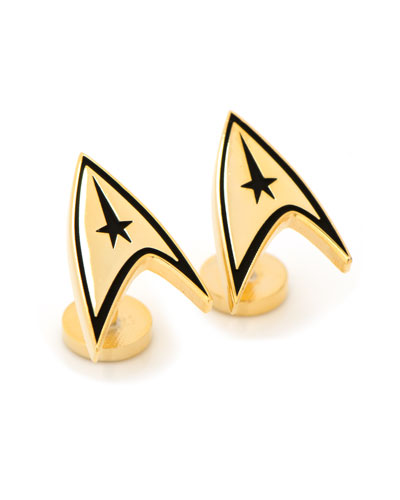 Star Trek Delta Shield Gold-Plated Cuff Links