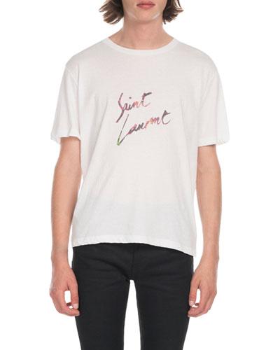Men's Multi Leopard Logo T-Shirt