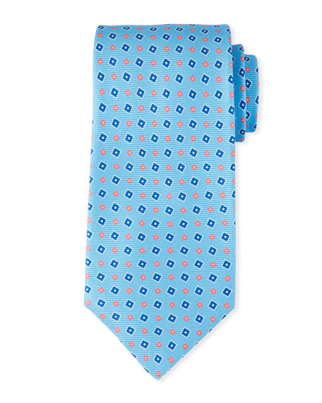Kiton Men's Tilted Squares Tie