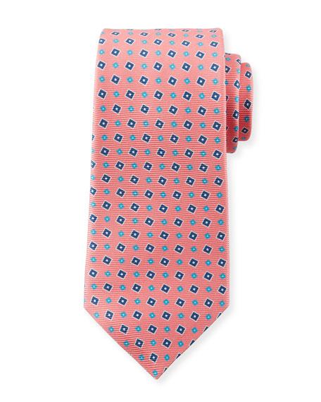 b9f73fe9afde Kiton Men's Tilted Squares Tie, Pink