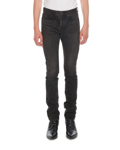 Men's Raw Denim Slim Jeans