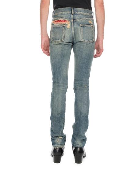 831bce20c8 Men's Wash Distressed Denim Jeans in Blue