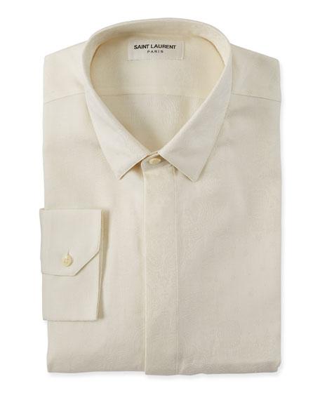 Saint Laurent Men S Brocade Dress Shirt