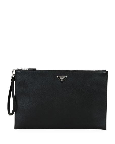 2284df47cd43 Prada Men's Saffiano Leather Portfolio Case