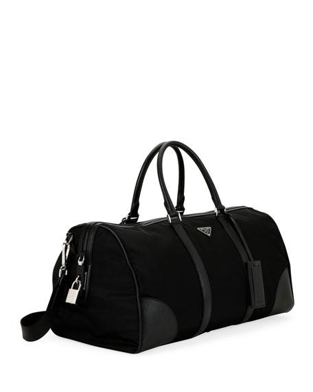 57263ca6c4f6 Prada Men s Nylon   Saffiano Duffel Bag