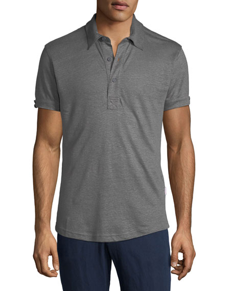 48df23064 Orlebar Brown Men s Sebastian Tailored Linen Polo Shirt