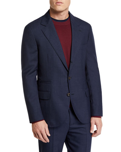 Men's Basic Rustic Wool Suit