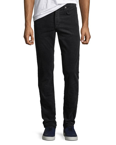 Men's Fit 2 Mid-Rise Relaxed Slim-Fit Corduroy Pants, Navy