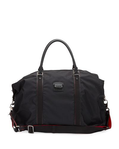 Men's Paris Loubicity Nylon & Calf Leather Weekender Bag