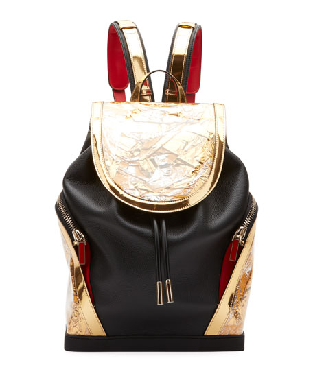 Christian Louboutin Men's Explorafunk Leather Flap-Top Backpack