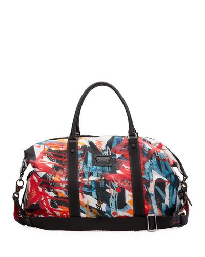 Men's Graffiti Neoprene Weekender Bag