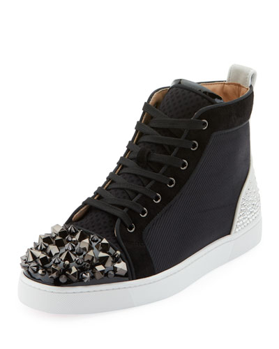 e8f3c19be73 Men s Mixed-Media Spike Mid-Top Sneakers Quick Look. Christian Louboutin