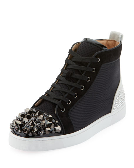 timeless design 9eaa5 ab95c Men's Mixed-Media Spike Mid-Top Sneakers