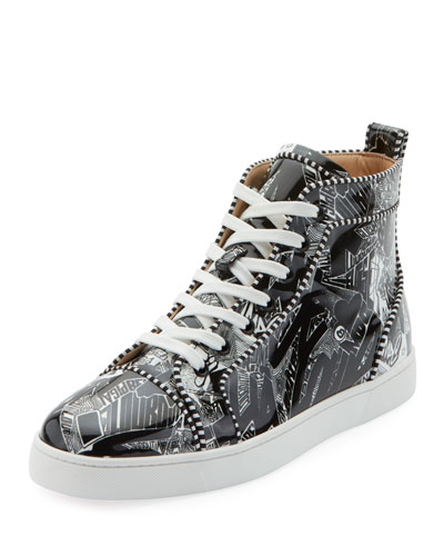 Men's Louis Orlato Graffiti High-Top Sneakers