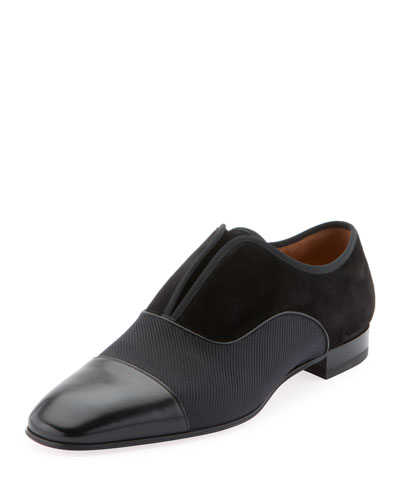 Men's Alpha Male Cap-Toe Slip-On Loafers