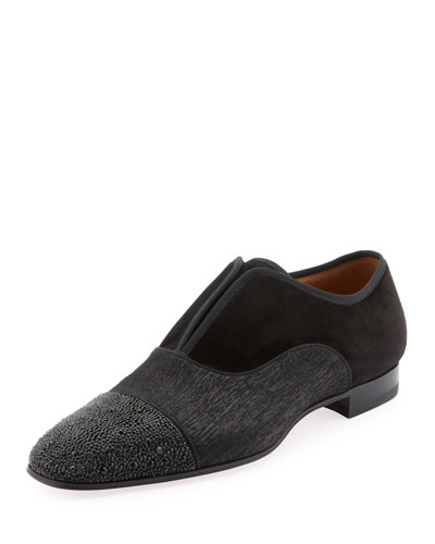 Men's Alpha Male Strass Slip-On Loafers
