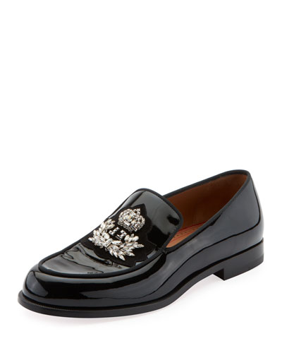 Men's Logo Laperouse Patent Leather Loafer