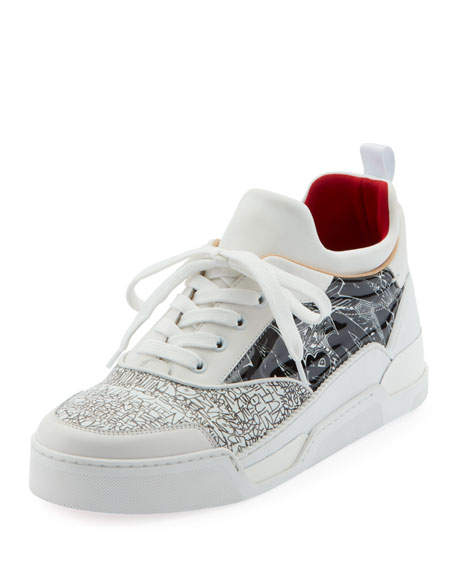 Christian Louboutin Men's Aurelien Multimedia Low-Top Sneakers
