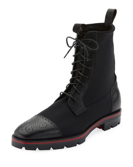 Christian Louboutin Men's SockRoc Waxed Neoprene Boots