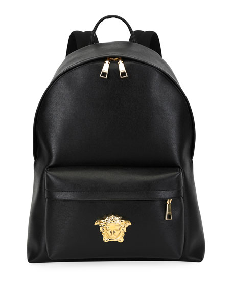 a7b172ed634 Versace Men s Leather Medusa Backpack