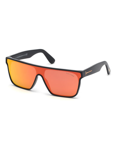 Men's Wyhat Square Shield Sunglasses, Red