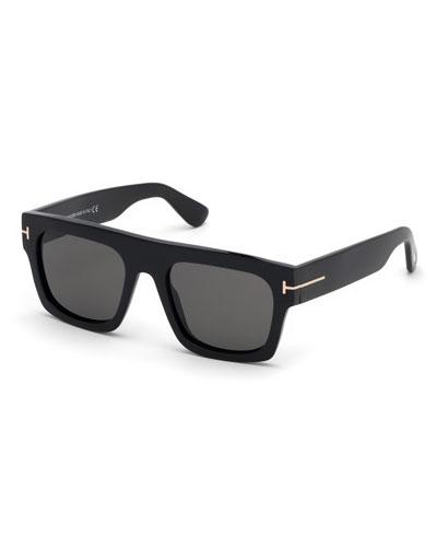 Men's Fausto Thick Plastic Sunglasses