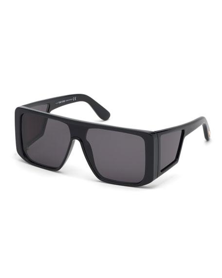 2d37b67b00 TOM FORD Men s Atticus Wide Plastic Sunglasses