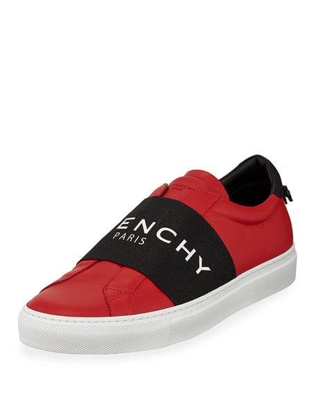 Givenchy Men's Urban Street Elastic Slip-On Sneakers, Red/Black, Red/Black