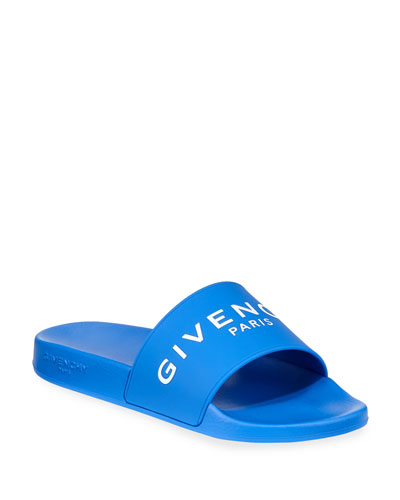 Men's Logo Rubber Pool Slides