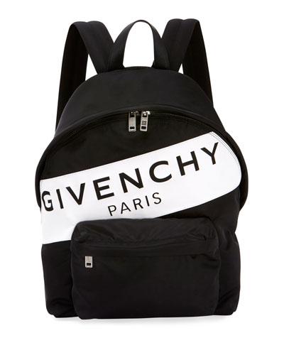 Men's Urban Logo Nylon Zip-Around Backpack