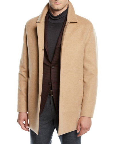 Men's Unlined Cashmere Top Coat