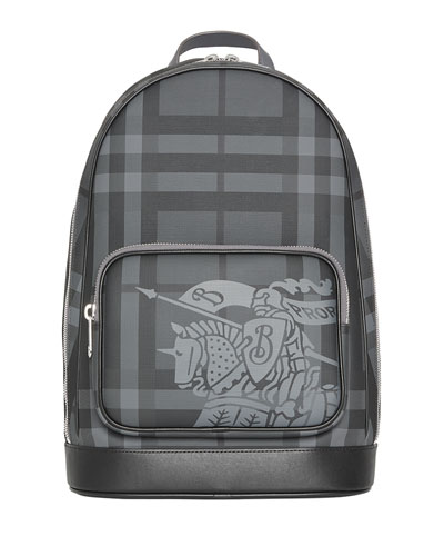 Men's Rocco Logo-Print Faux-Leather Backpack