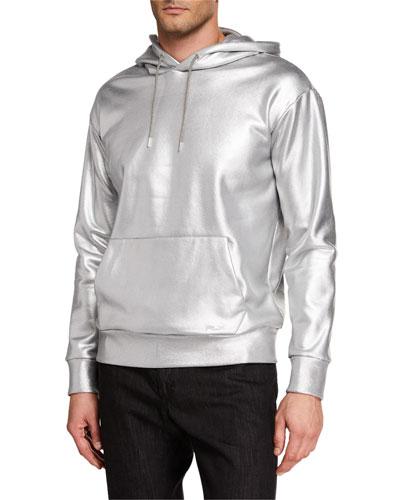 Men's Metallic Hoodie Sweatshirt