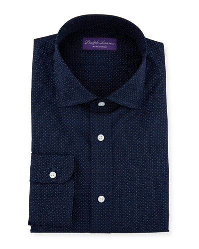Men's Aston Plainweave Dot Dress Shirt