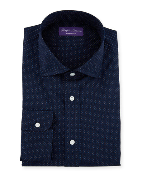 Ralph Lauren Men's Aston Plainweave Dot Dress Shirt