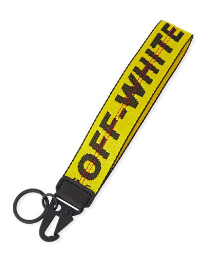 Men's Industrial Web Strap Keychain, Yellow