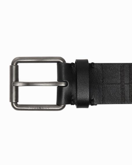 43e27ab65d993 Burberry Men s Fife Embossed-Check Leather Belt
