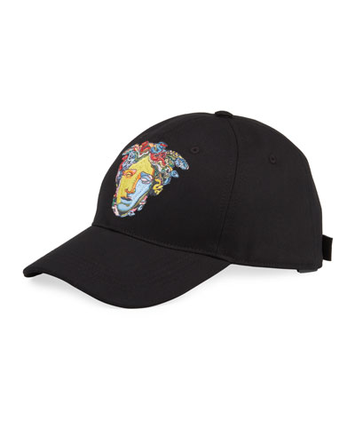 Men's Medusa Head Embroidery Baseball Hat